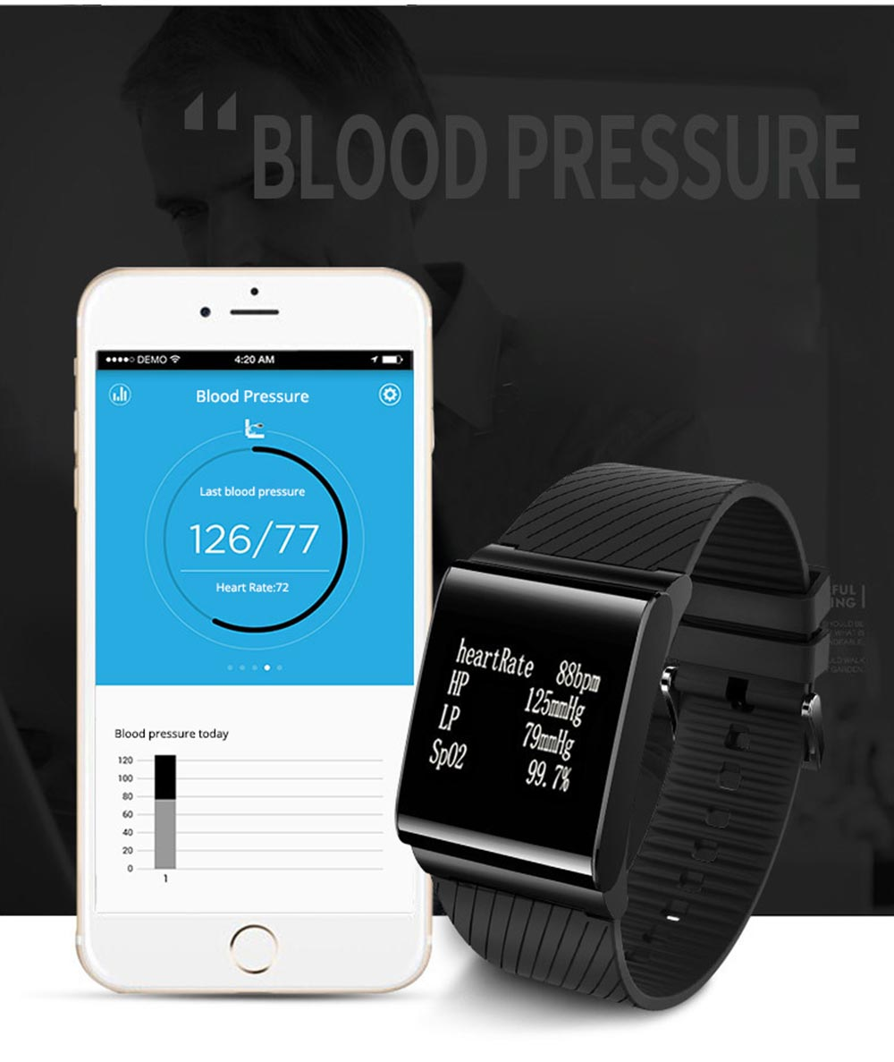 Fashion Exercise Bracelet Pedometer Fitness Tracker for Heart Rate Monitoring Blood Pressure 4