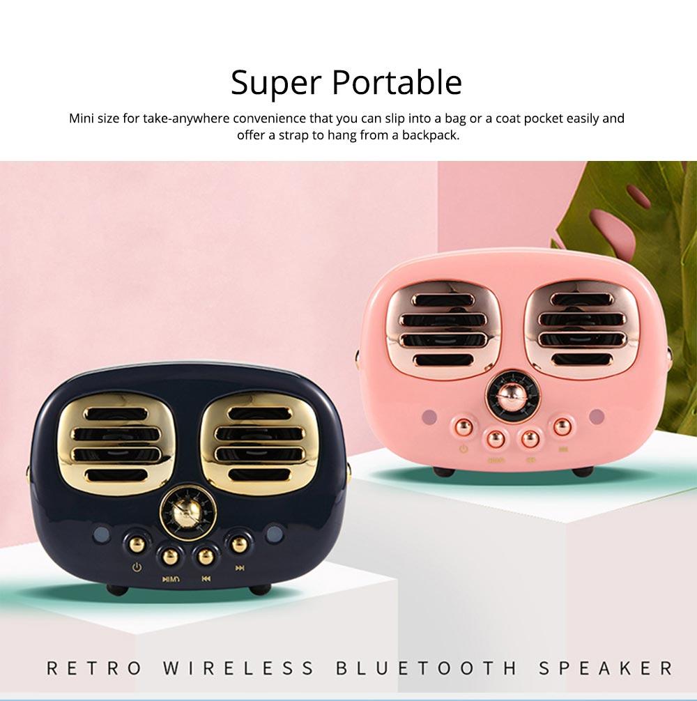Creative Mini Portable Bluetooth Speaker With SD Card Slot, TF Card Insert Or USB Input 4
