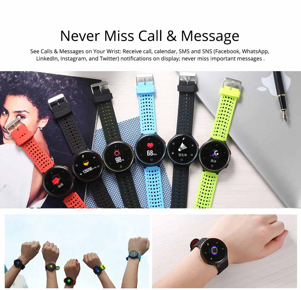 Blood Pressure Pedometer Heart Rate Monitor Sports Smart Wristband Bracelet 6