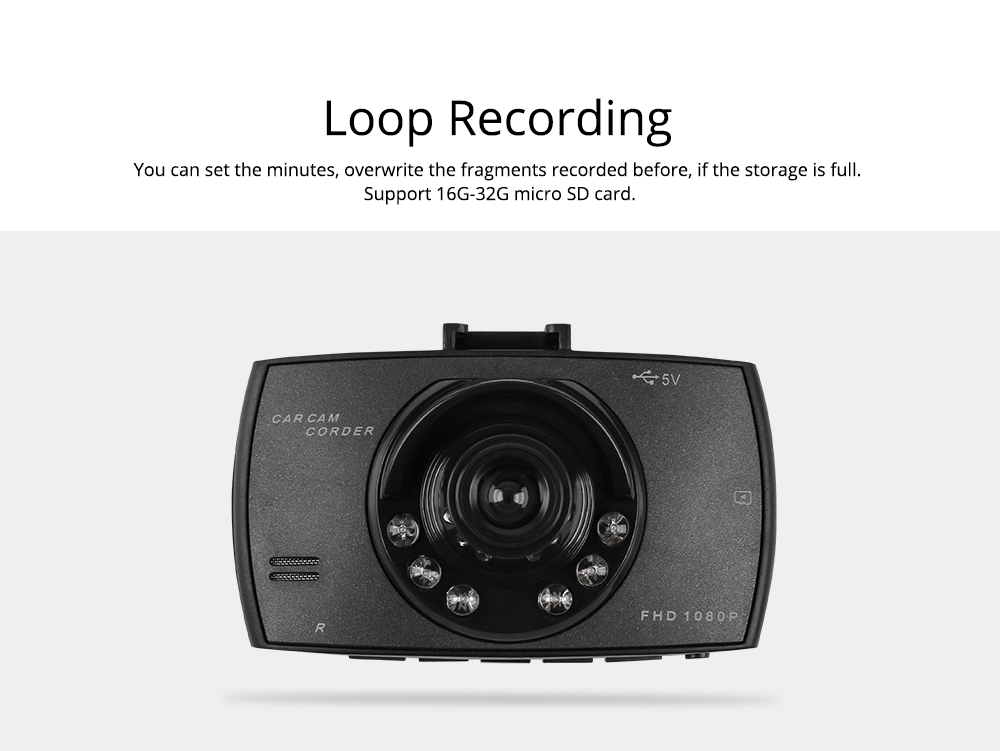 1080p Hd Dual Lens Driving Recorder, 170 Degree Windshield Vehicle Driving Recorder For Motion Detection 3
