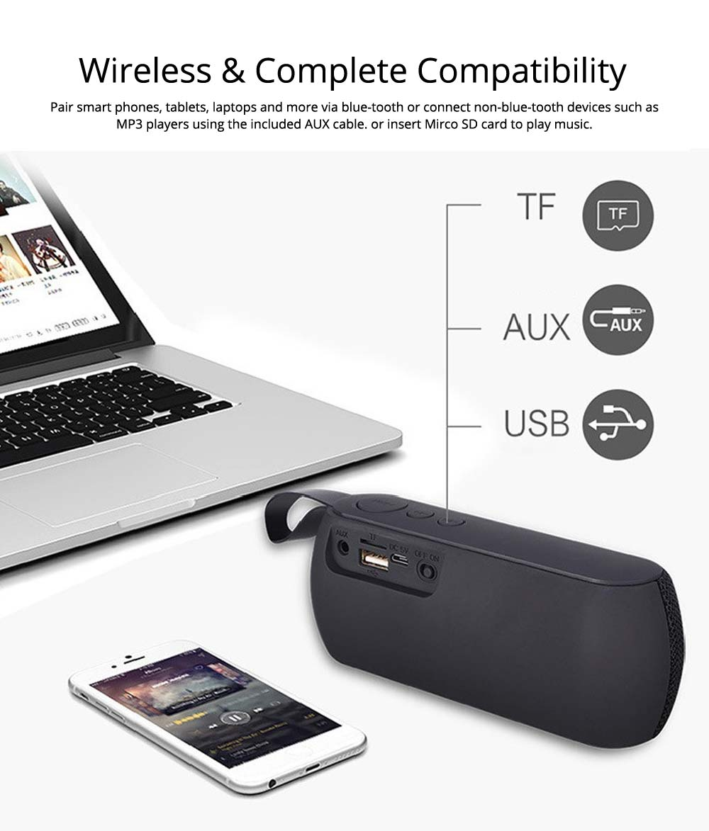 Mini Portable Subwoofer Wireless Bluetooth Speaker For iPhone iPad PC 2