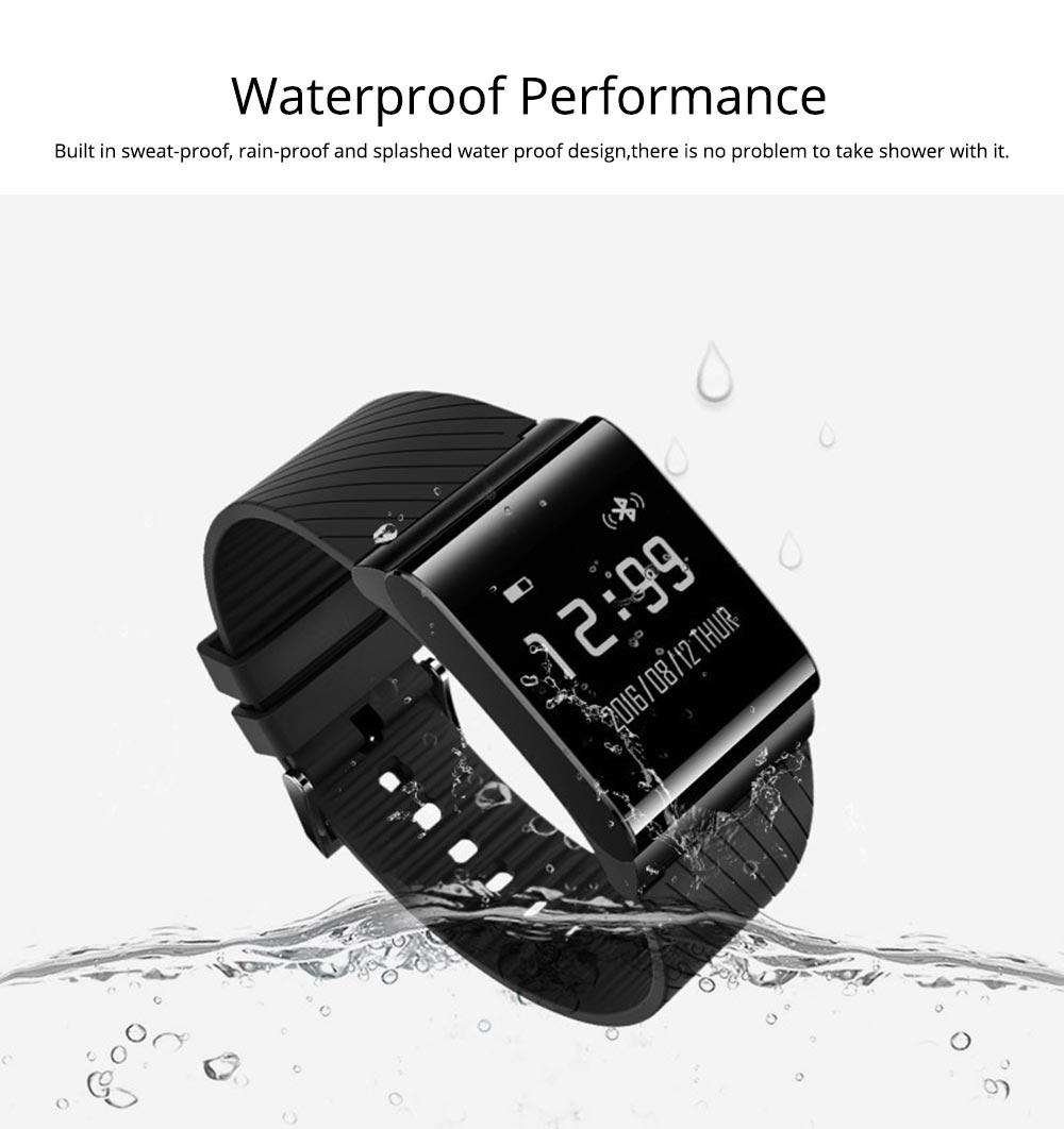 Fashion Exercise Bracelet Pedometer Fitness Tracker for Heart Rate Monitoring Blood Pressure 5