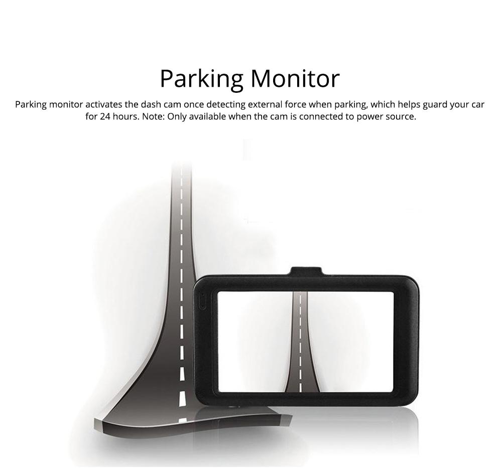 HD mini Car Recorder for Night Vision Wide-angle Driving, 3 inch Black Diamond  Driving Recorder 4