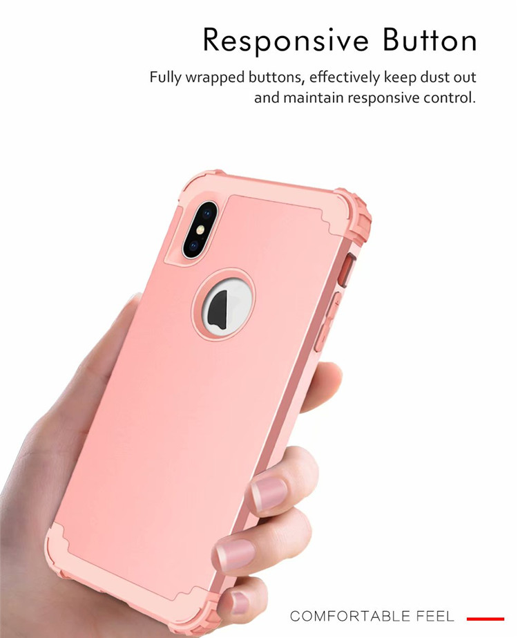 For Apple iPhone XS MAX Bumper Case Shockproof Hybrid Plain Back Slim Cover Shell for iPhone XS MAX 6.5'' 7 Colors ON SALE 3
