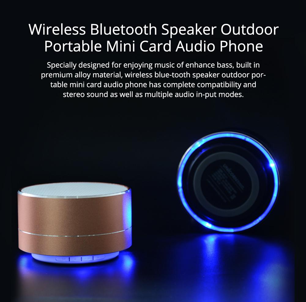 Wireless Bluetooth Speaker Outdoor Portable Mini Card Audio Phone Computer Speaker for iPhone iPad PC 0