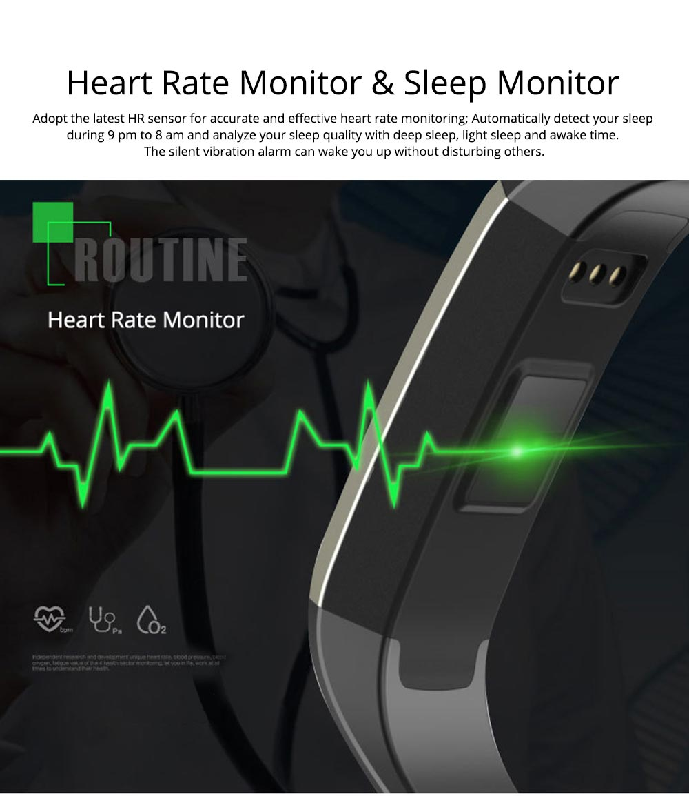 Smart Wristband Fitness Tracker Bracelet for Monitoring Heart Rate Blood Pressure Watch Pulse Meter Oxygen 4