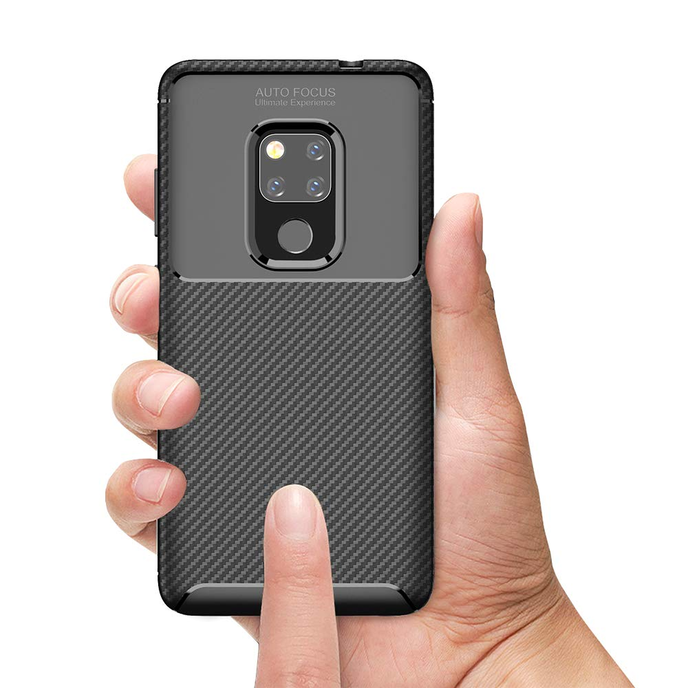 Spessn Carbon Fiber Cover Anti-Scratch Shockproof Skin Case for Huawei Mate 20 3 Colors On SALE 4