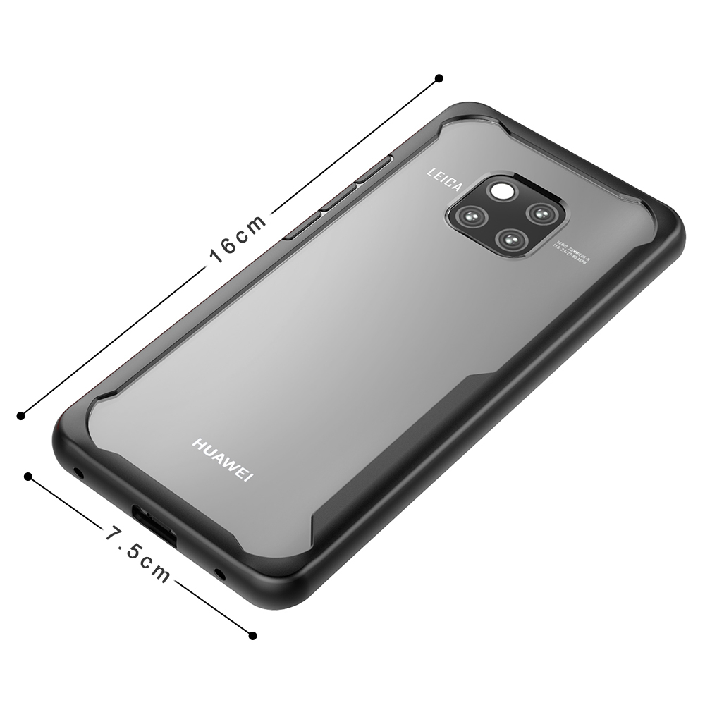 Compatible for Huawei Mate 20 Pro Case, Spessn Clear Back Cover Anti-Scratch Phone Case Transparent Shockproof Premium PC+TPU Ultra Thin Slim Hybrid Bumper Phone Cover for Huawei Mate 20 Pro, Mate 20 12
