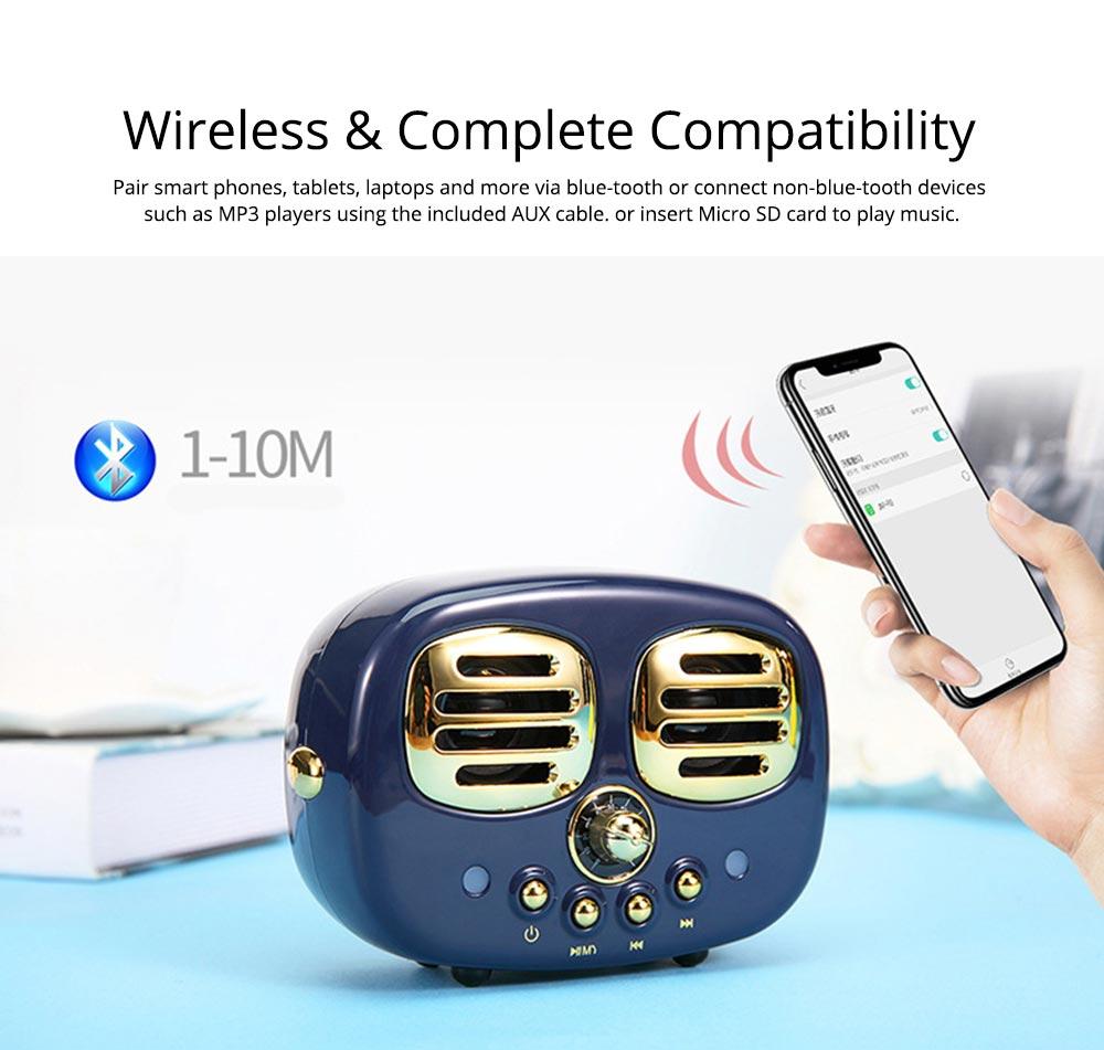 Creative Mini Portable Bluetooth Speaker With SD Card Slot, TF Card Insert Or USB Input 3
