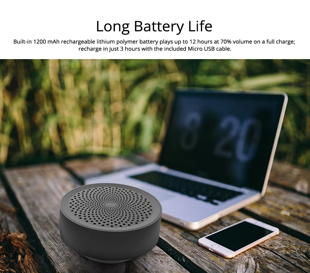 Portable Outdoor Bluetooth Speaker, Wireless Mini Card Speaker for iPhone iPad PC 3