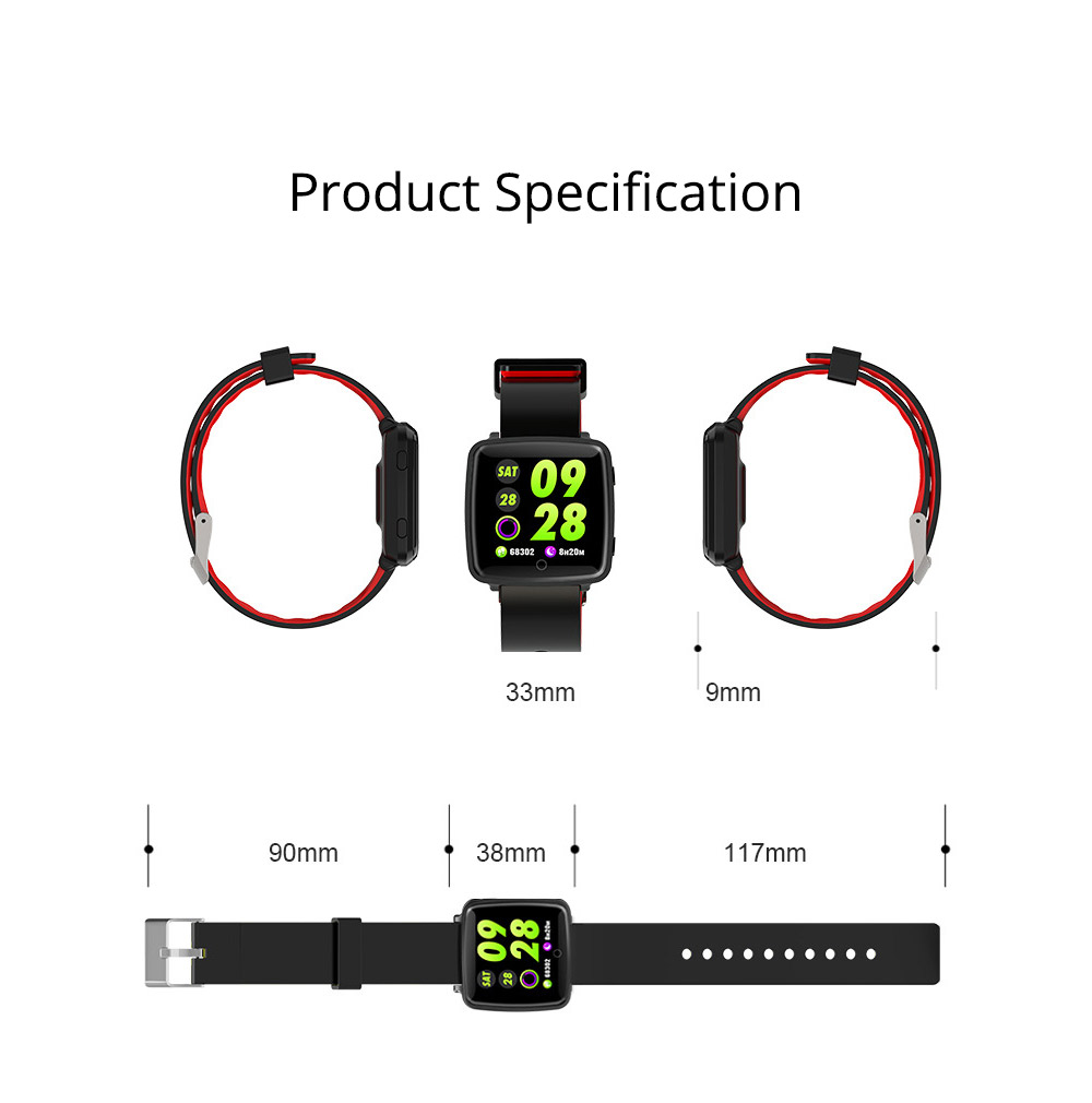 Fashion Sports Smart Wear Bracelet for Information Synchronization Push, Blood Pressure, Sleep Detection and Fitness Step 9
