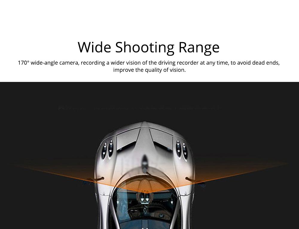 HD mini Car Recorder for Night Vision Wide-angle Driving, 3 inch Black Diamond  Driving Recorder 2