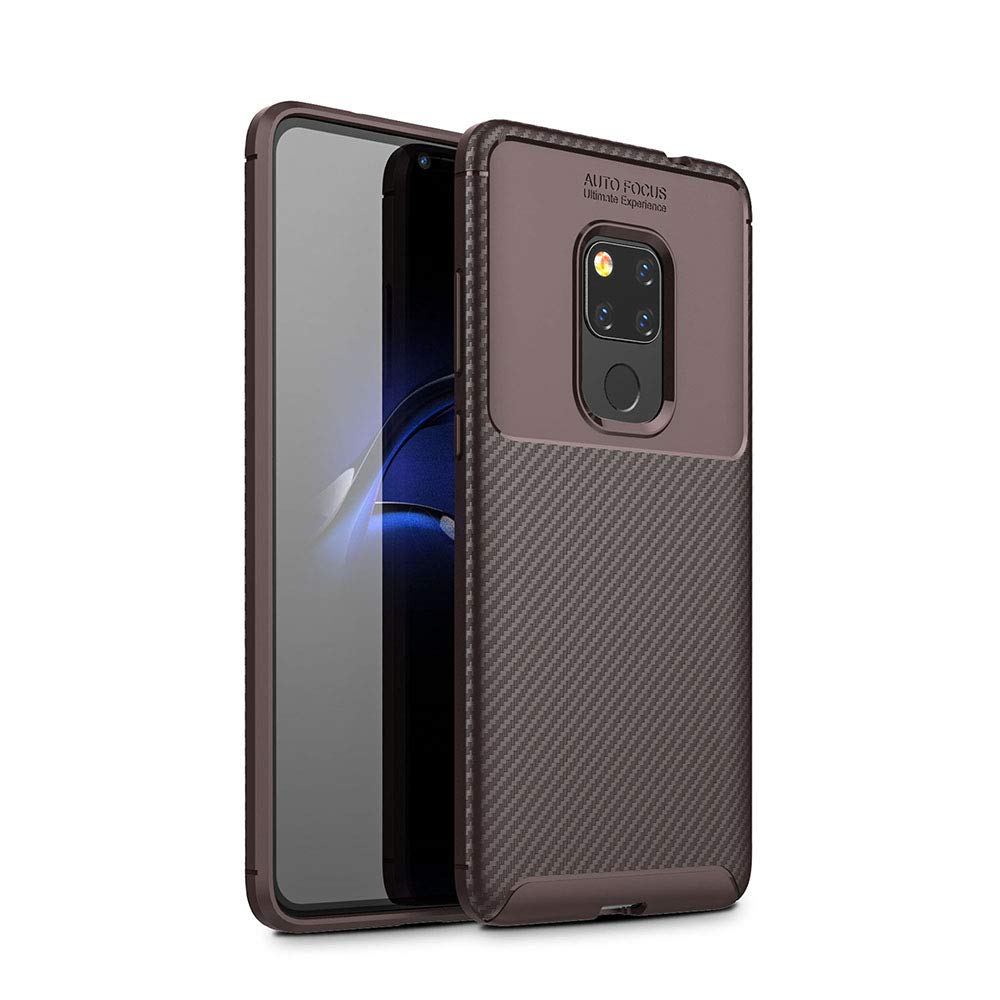 Spessn Carbon Fiber Cover Anti-Scratch Shockproof Skin Case for Huawei Mate 20 3 Colors On SALE 1