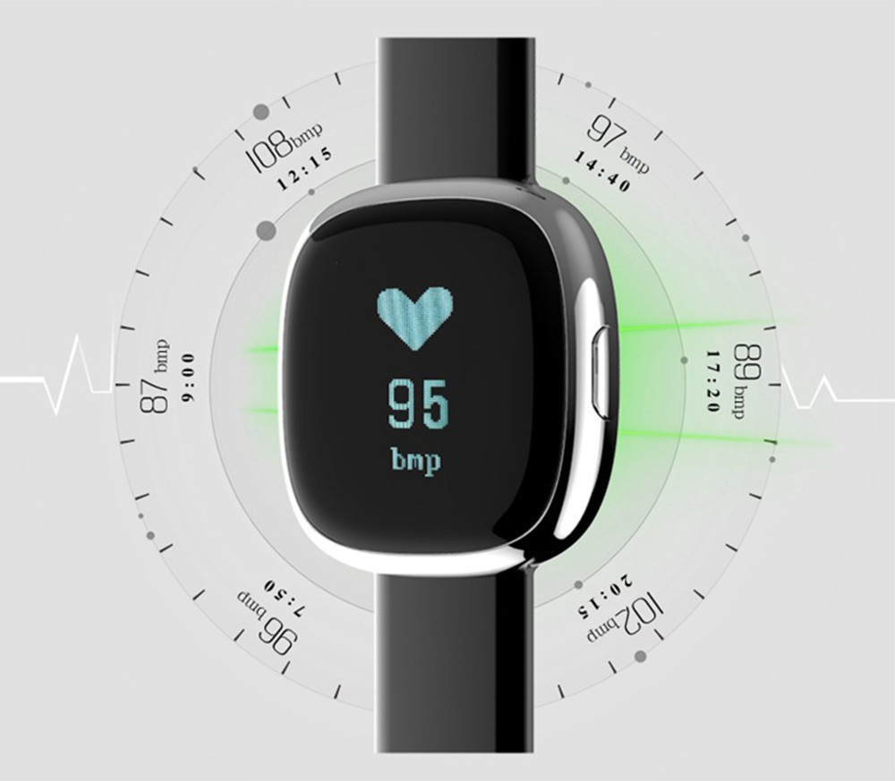 Fashion Smart Universal Watch Fitness Tracker for GPS Positioning Function and Heart Rate Monitoring 4