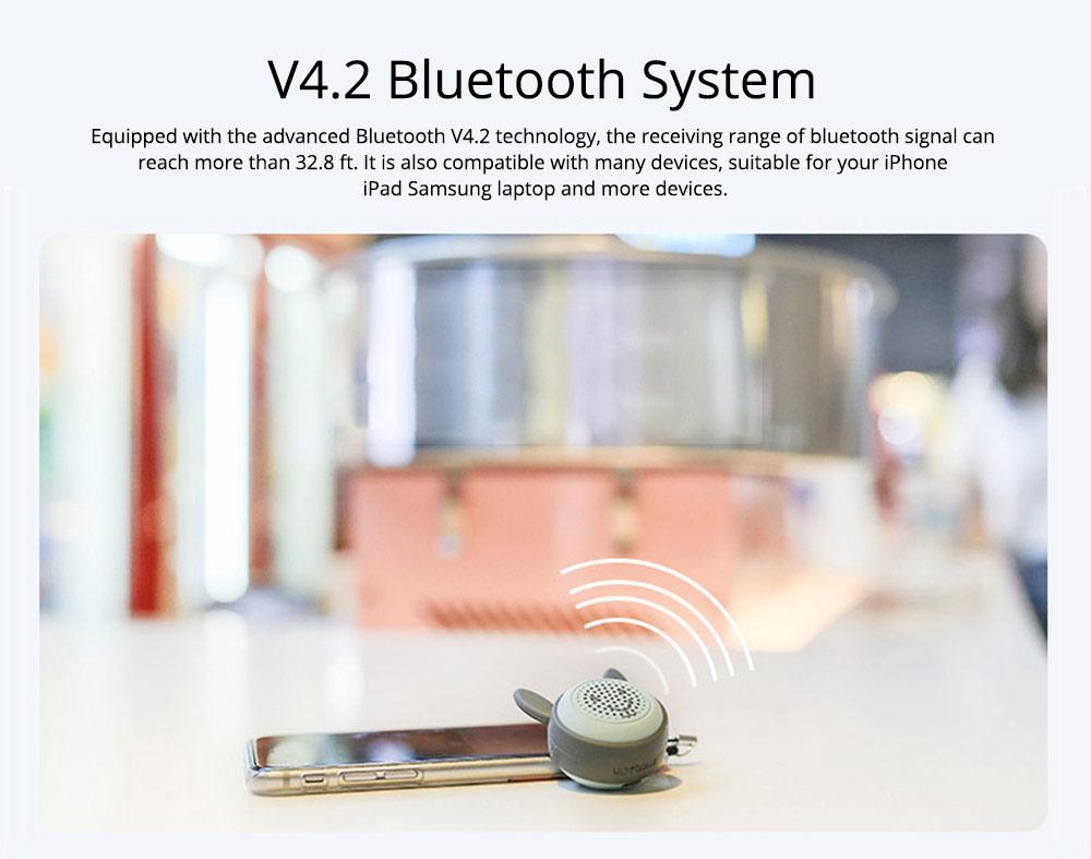 Universal Bluetooth Speaker, Mini Portable Creative Mobile Selfie Sounder for Gift 2