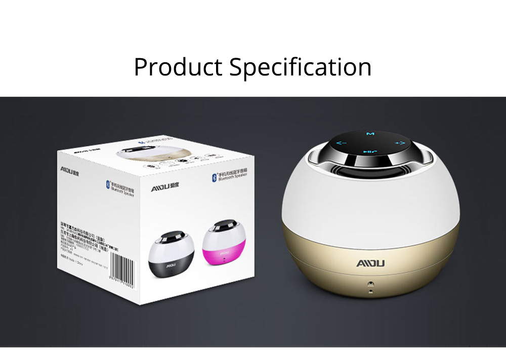 Portable Bluetooth Speaker With Built In Subwoofer, Mini Network Audio For iPhone iPad PC 8