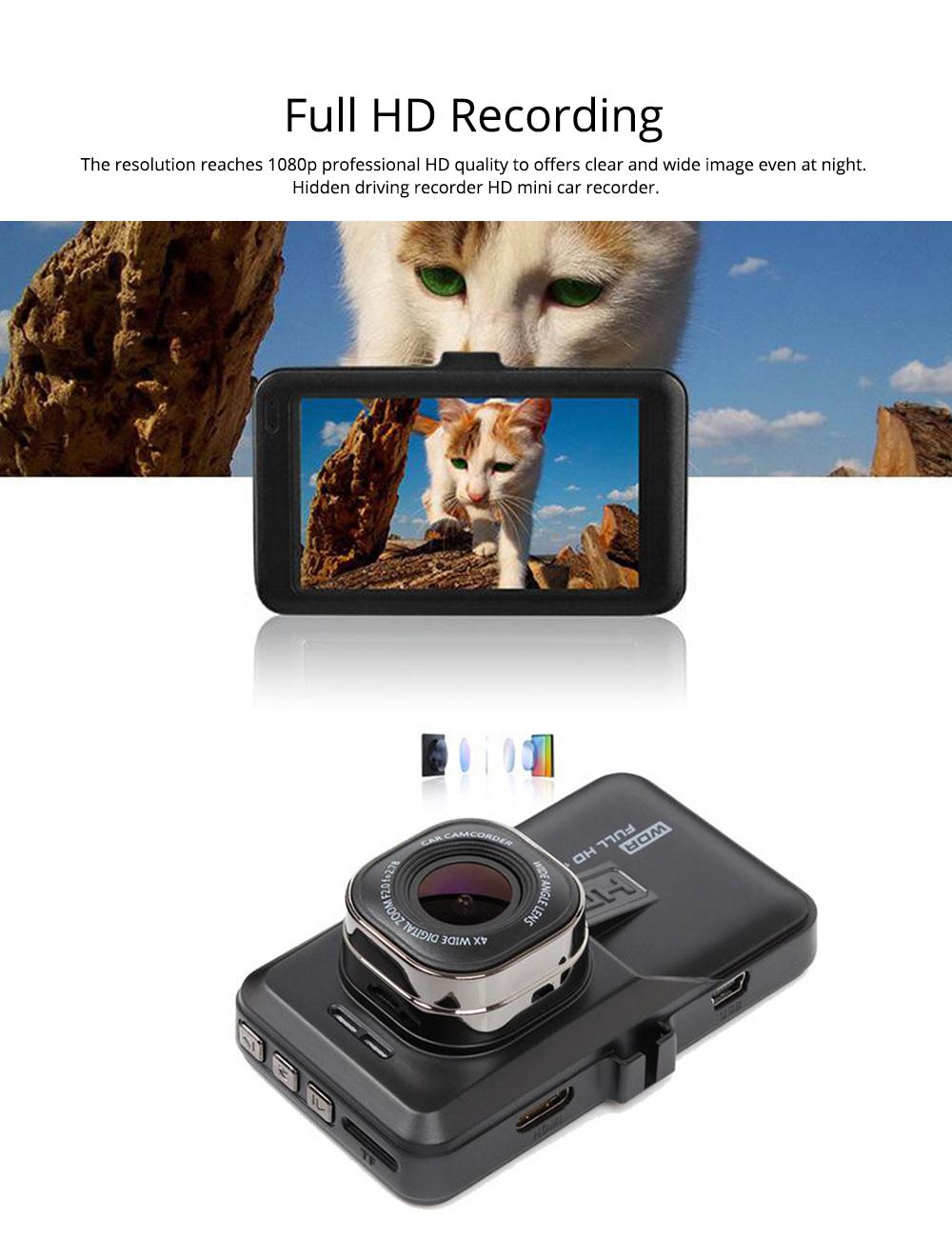 HD mini Car Recorder for Night Vision Wide-angle Driving, 3 inch Black Diamond  Driving Recorder 1