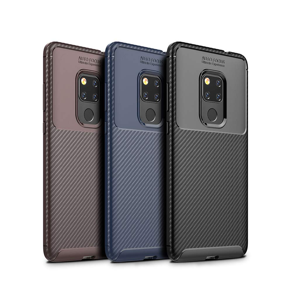 Spessn Carbon Fiber Cover Anti-Scratch Shockproof Skin Case for Huawei Mate 20 3 Colors On SALE 0