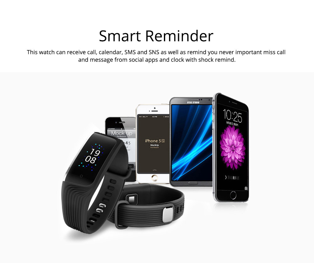 Smart Color Screen Sports Waterproof Bluetooth Stepping Fitness Tracker for Sleep Anti-lost Heart Rate Monitoring 7