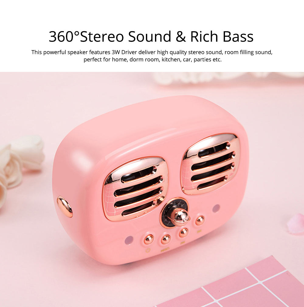 Creative Mini Portable Bluetooth Speaker With SD Card Slot, TF Card Insert Or USB Input 6