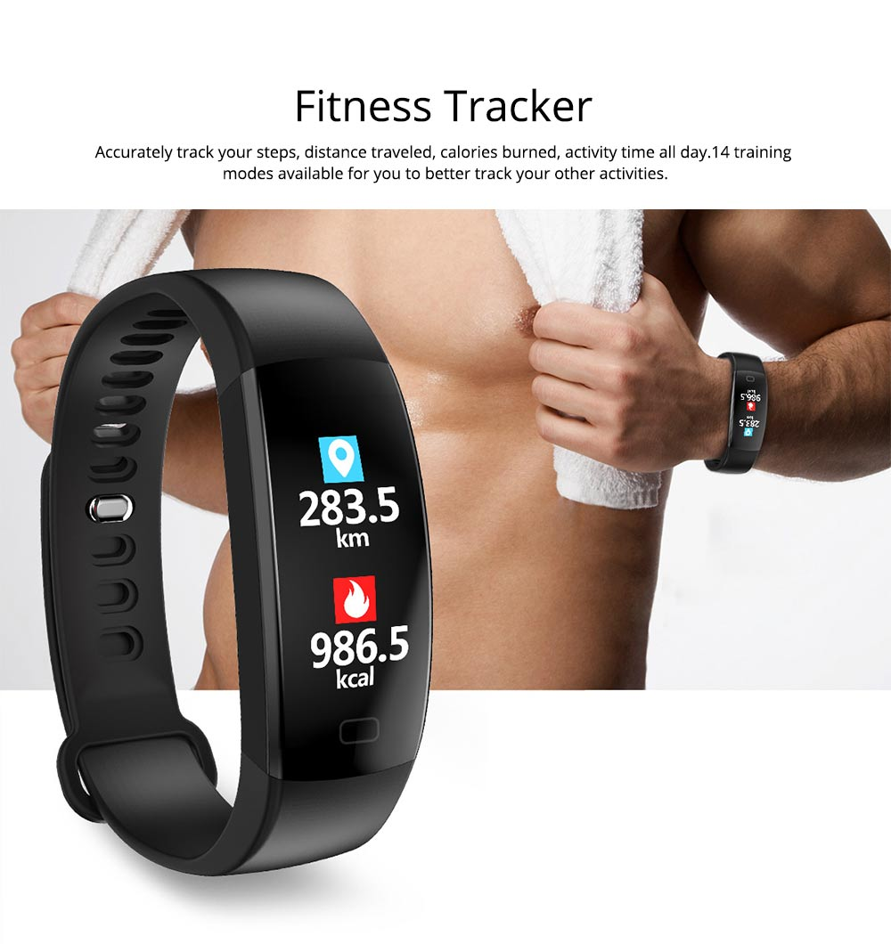 Waterproof Sports Bluetooth Bracelet for Call Reminder Monitoring, Music, GPS and Weather 2