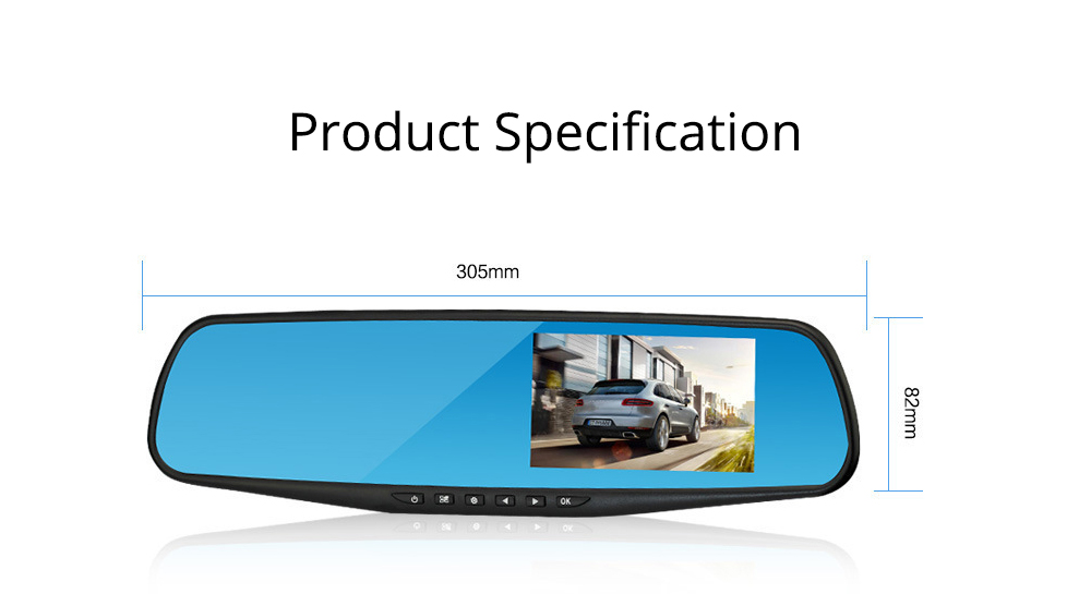 Rear View Mirror Camera Recorder, 1080P HD Driving Recorder For Night Vision Parking Monitoring 6