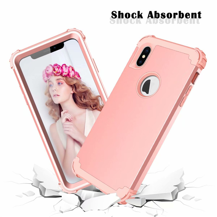 For Apple iPhone XS MAX Bumper Case Shockproof Hybrid Plain Back Slim Cover Shell for iPhone XS MAX 6.5'' 7 Colors ON SALE 0