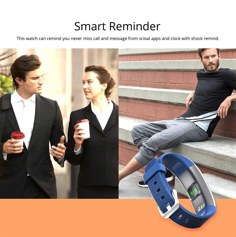 Wristband Pedometer Fitness Tracker, Fashion Exercise Sports Bracelet For Heart Rate Monitoring 7