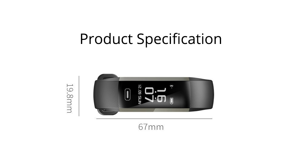 Smart Wristband Fitness Tracker Bracelet for Monitoring Heart Rate Blood Pressure Watch Pulse Meter Oxygen 8