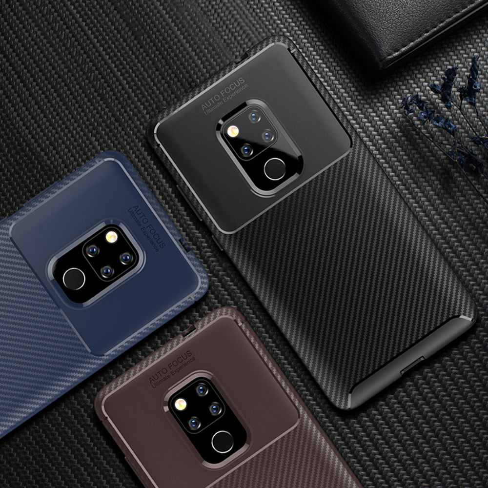 Spessn Carbon Fiber Cover Anti-Scratch Shockproof Skin Case for Huawei Mate 20 3 Colors On SALE 8