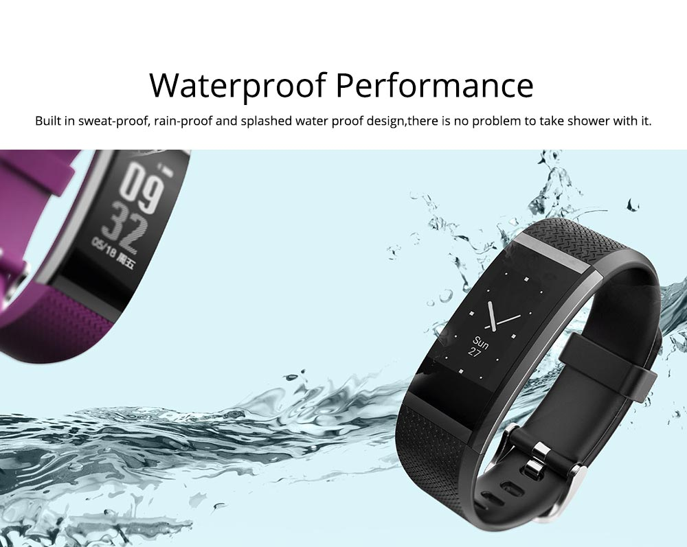 Wristband Pedometer Fitness Tracker, Fashion Exercise Sports Bracelet For Heart Rate Monitoring 5
