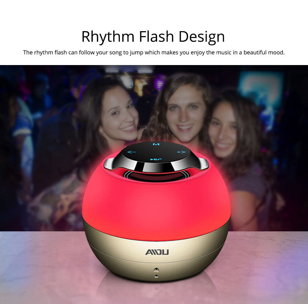 Portable Bluetooth Speaker With Built In Subwoofer, Mini Network Audio For iPhone iPad PC 5
