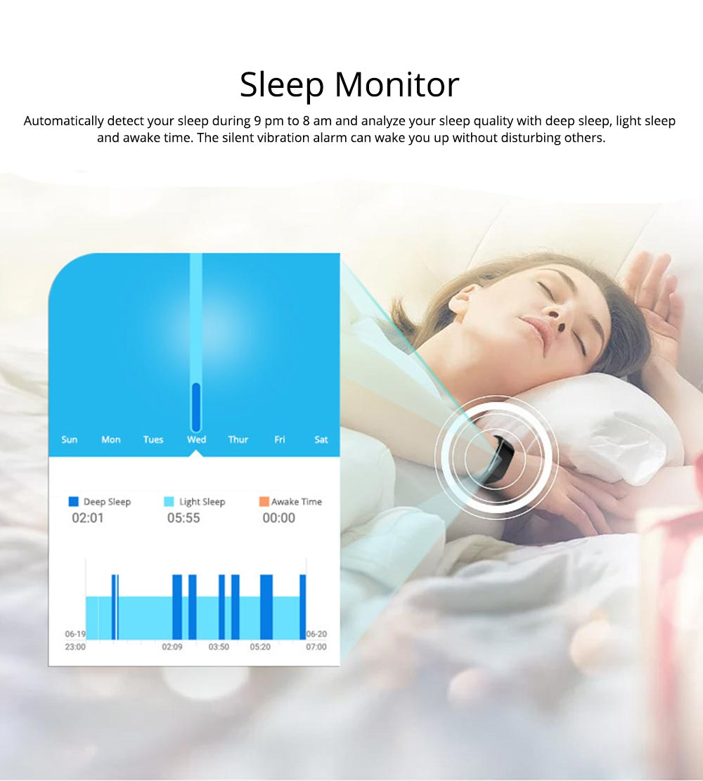 Smart Color Screen Sports Waterproof Bluetooth Stepping Fitness Tracker for Sleep Anti-lost Heart Rate Monitoring 3
