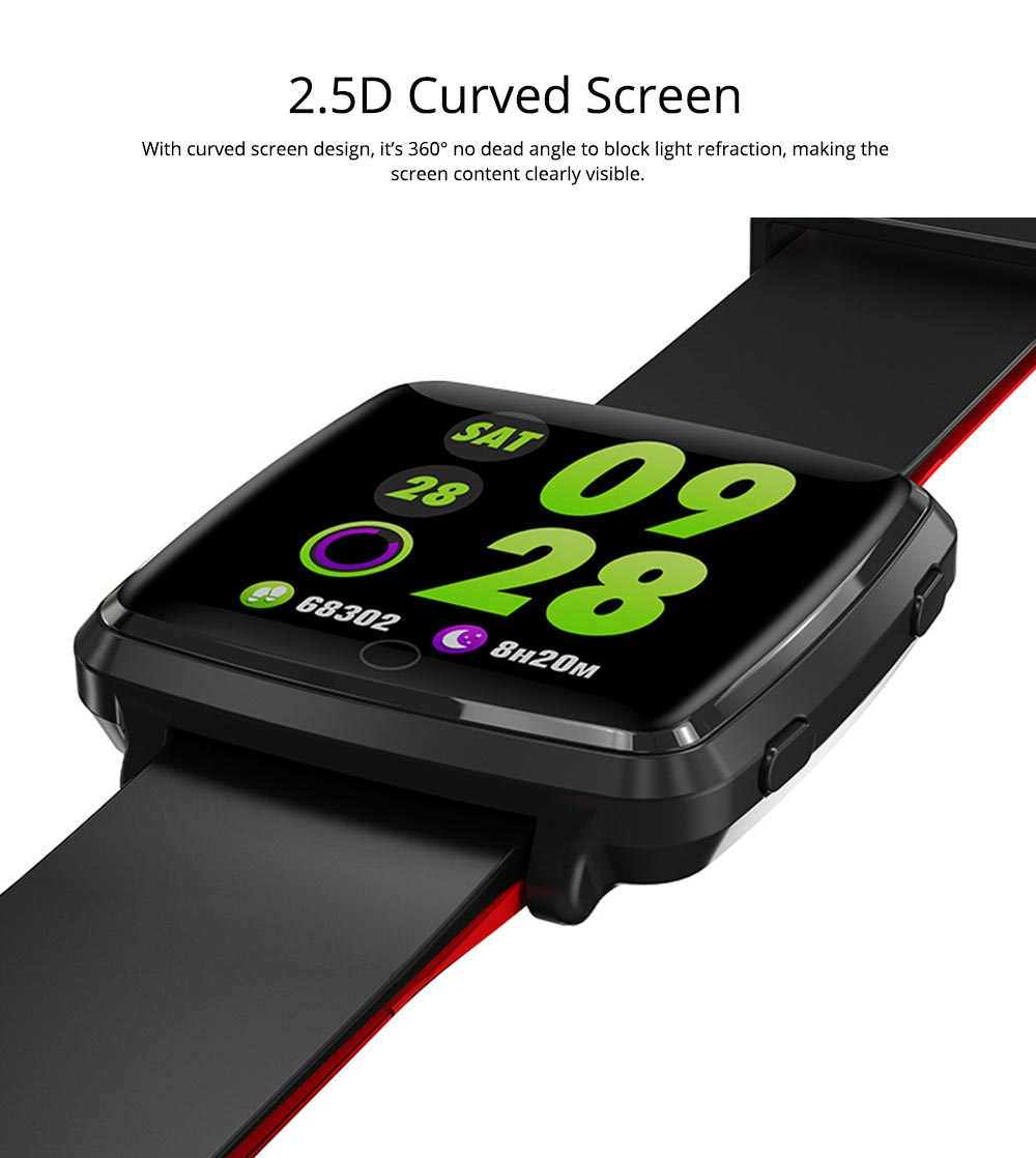 Fashion Sports Smart Wear Bracelet for Information Synchronization Push, Blood Pressure, Sleep Detection and Fitness Step 2