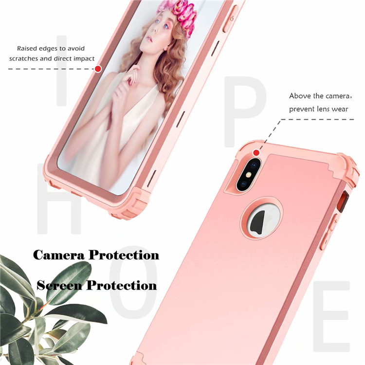 For Apple iPhone XS MAX Bumper Case Shockproof Hybrid Plain Back Slim Cover Shell for iPhone XS MAX 6.5'' 7 Colors ON SALE 4