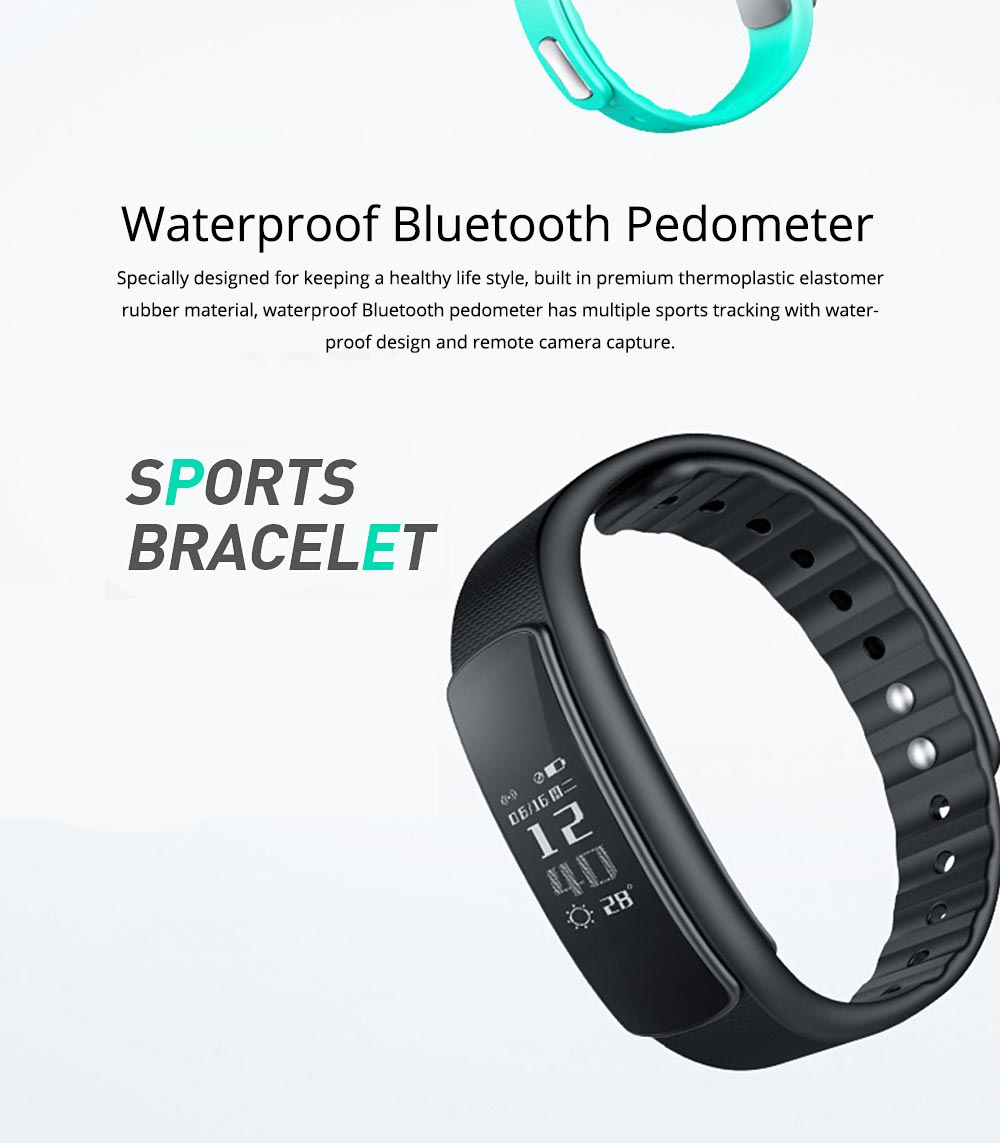 Smart Bracelet Sports Fitness Watch, Waterproof Bluetooth Pedometer for Fitness and Health 0