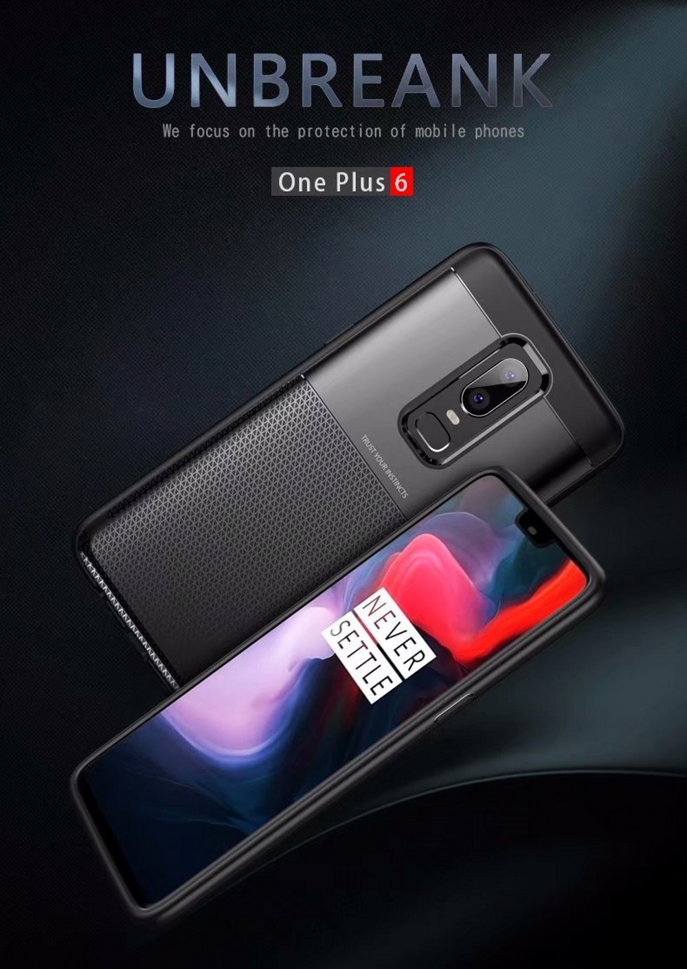Spessn Carbon Fiber Cover Anti-Scratch Shockproof Skin Case for OnePlus 6 Shell 3 Color ON SALE 0