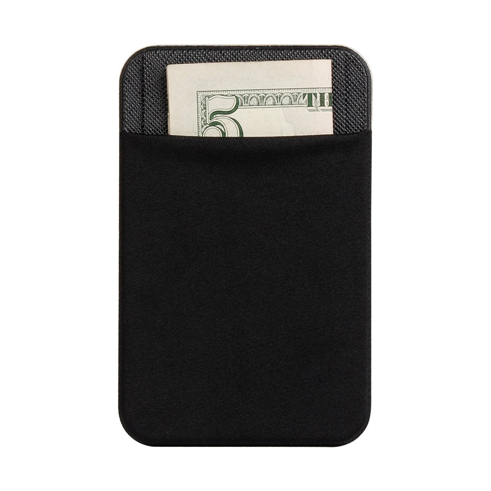 Back Card Holder for Moible Phone, Spessn Ultra-Slim Self Adhesive Credit Card Holder Sticker for Self Phone Black On Sale 13