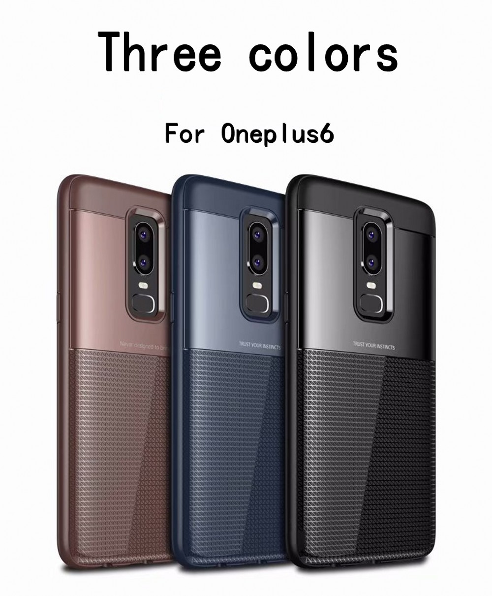Spessn Carbon Fiber Cover Anti-Scratch Shockproof Skin Case for OnePlus 6 Shell 3 Color ON SALE 4