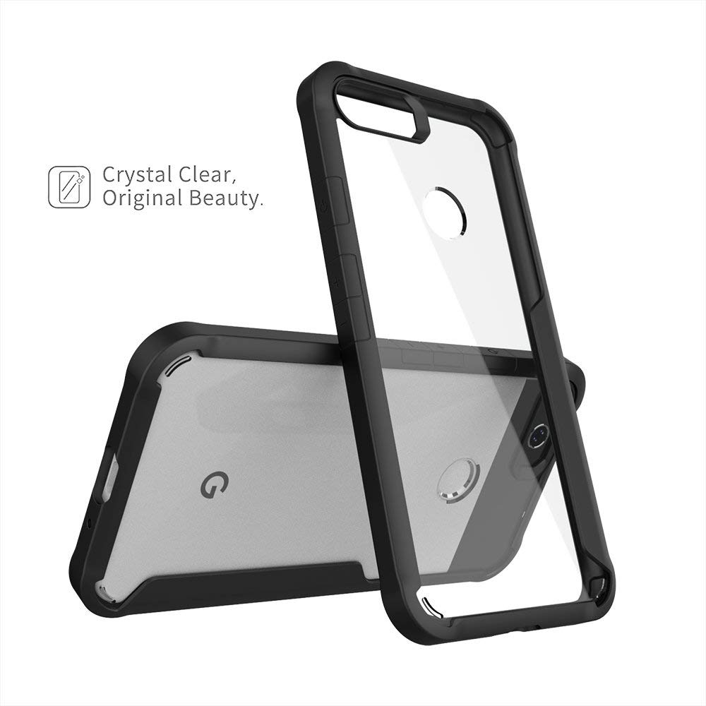 Spessn For Google Pixel 2 XL (2017 Release) Clear Case Tough Armor Bumper Flexible TPU Edge Rigid Clear Back Cover Slim Fit 3 Color 1