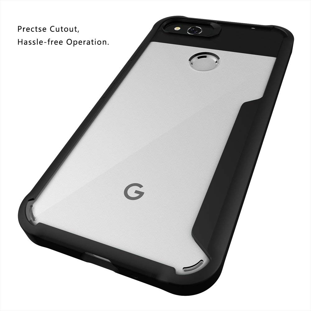 Spessn For Google Pixel 2 XL (2017 Release) Clear Case Tough Armor Bumper Flexible TPU Edge Rigid Clear Back Cover Slim Fit 3 Color 4