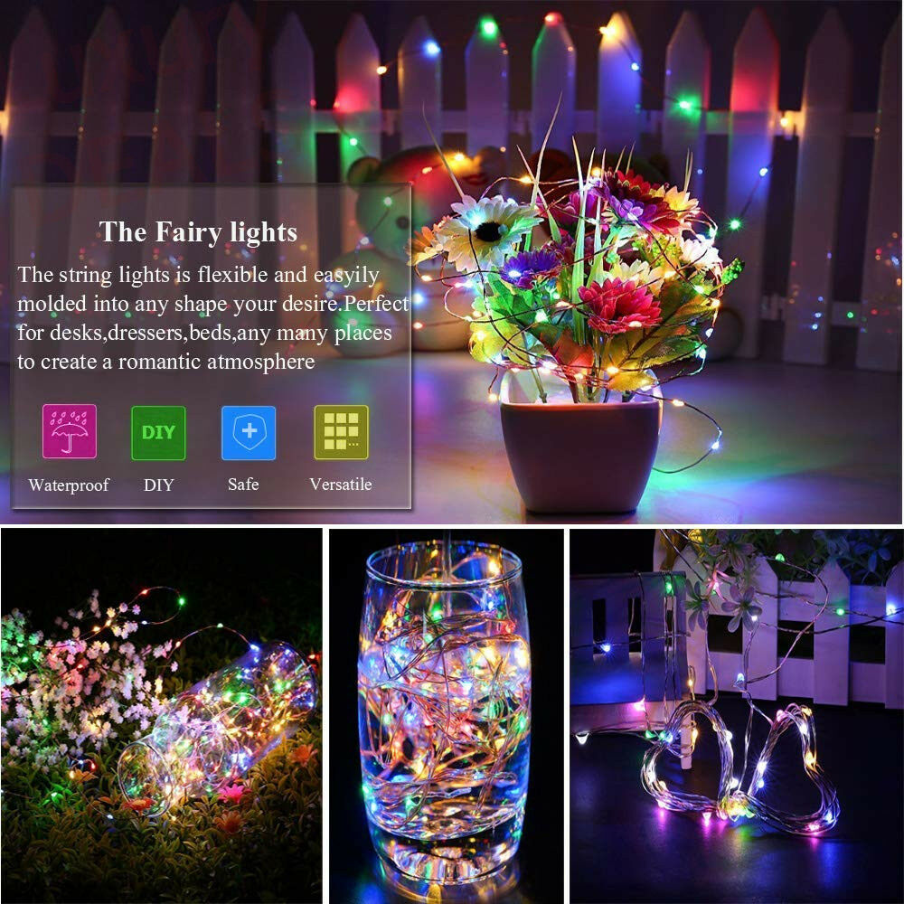 5m 10m Led Twinkle Light Outdoor Indoor Fairy String Christmas DIY Light AA Battery Powered Waterproof Wireless Remote Control 0