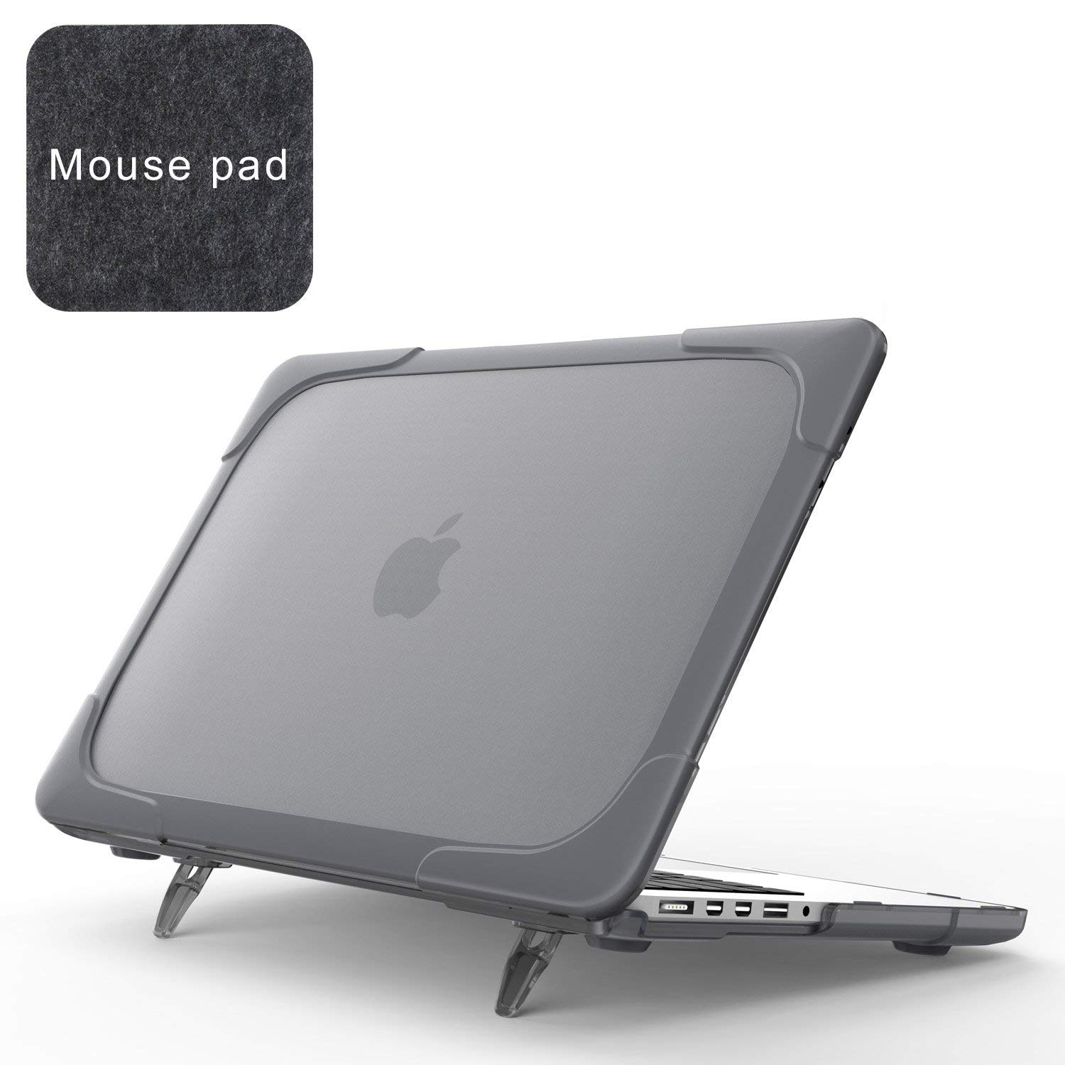 For Apple Macbook Pro 15 Shell A1398 Case With Stand Armor Heavy Duty Dual Layer Frosted PC Protective Cover US Stock 10