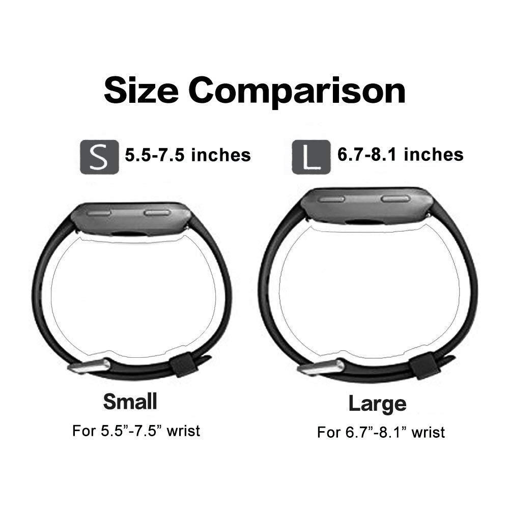 6 Pack For Fitbit Versa Replacement Strap Soft Sport Silicone Watch Band Smart Wristband Bracelet for Fitbit Versa Tracker On sale 4