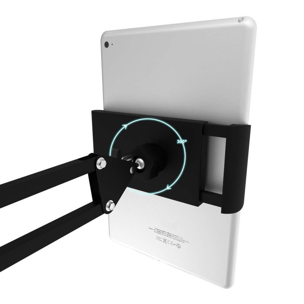 Spessn Adjustable Universal Tablet Floor Stand 360-degree Rotatable Metal Tablet Holder For Samsung Galaxy Tab13 inch, iPad Pro 12.9, iPad Mini, iPad Air, LG, Huawei and Xiaomi 3