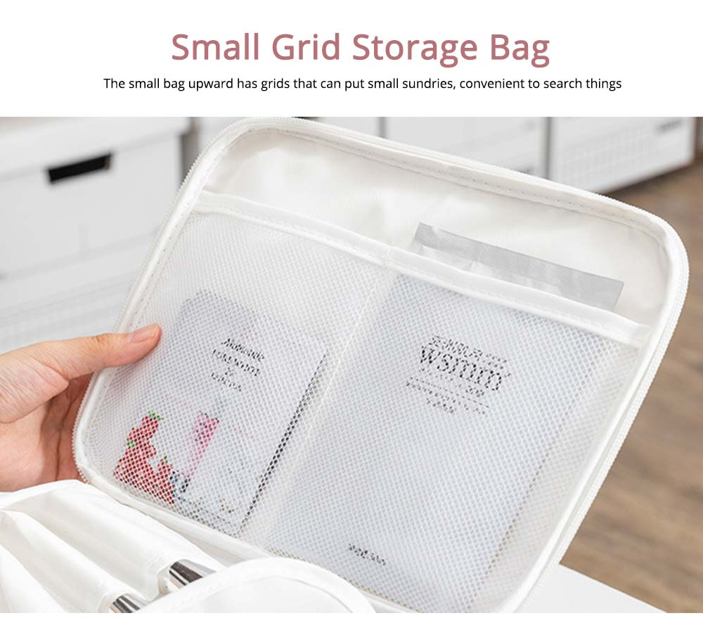 Nordic Style Waterproof Cosmetic Storage Bag with handle and zipper for Traveling & Domestic Use 4