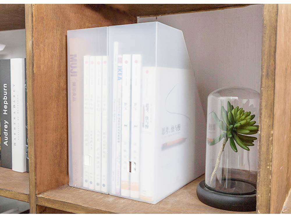 Japanese Style Plastic File Holder, Minimalist File Storage Box 6
