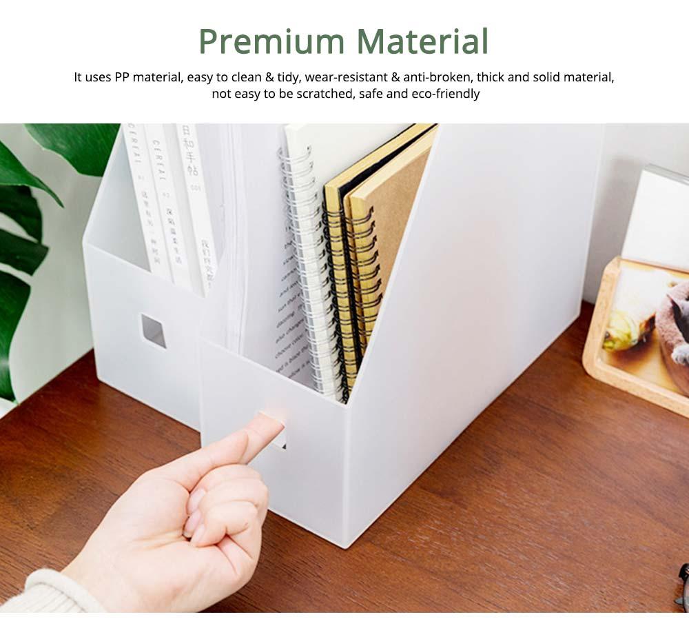 Japanese Style Plastic File Holder, Minimalist File Storage Box 4