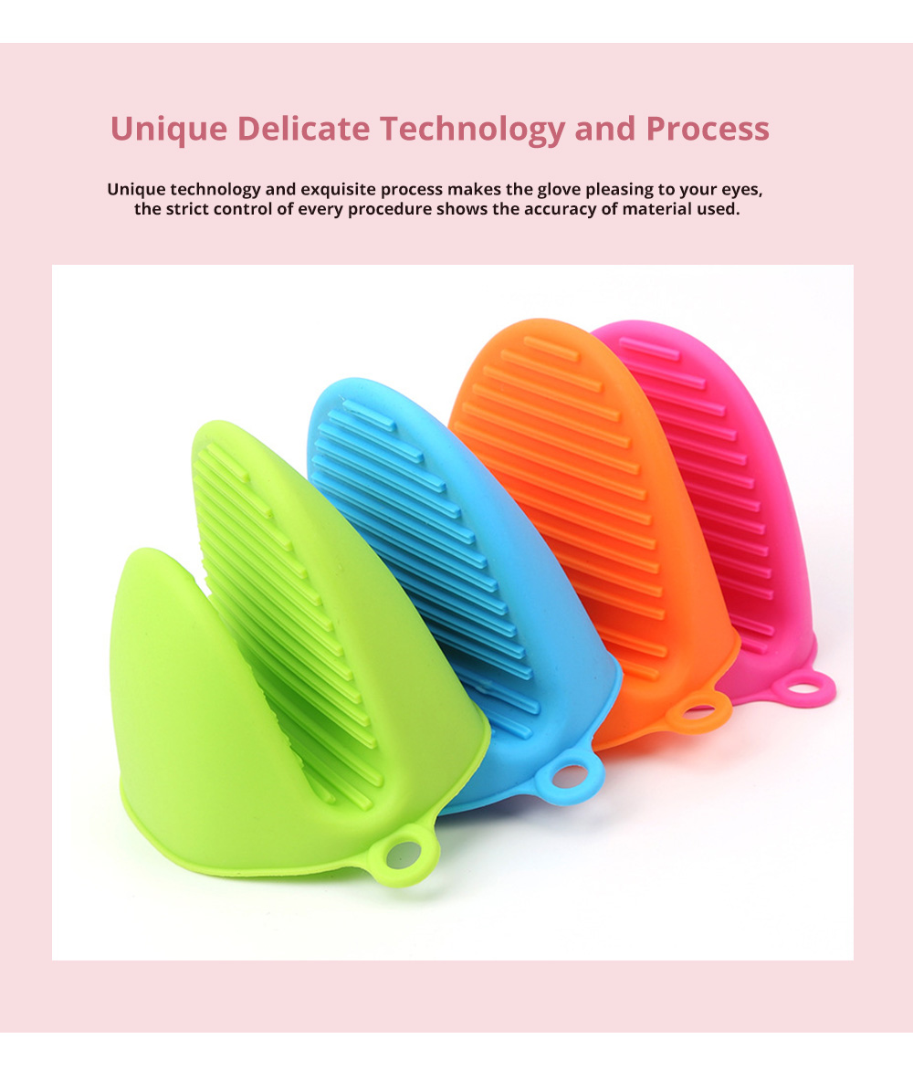 High Temperature Heat Resistant Gloves, Food Grade Silicone Glove For Oven And Microwave 3