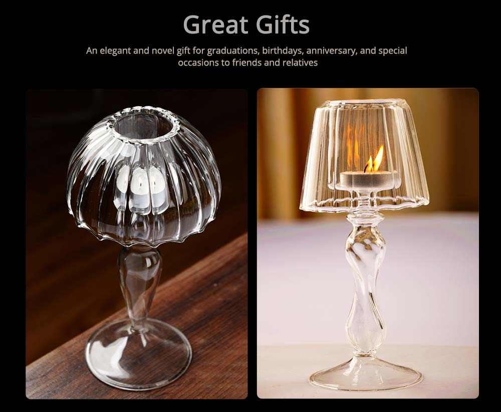 Stylish Glass Candlestick Holder with European Style for Wedding, Party, Table Decoration 4